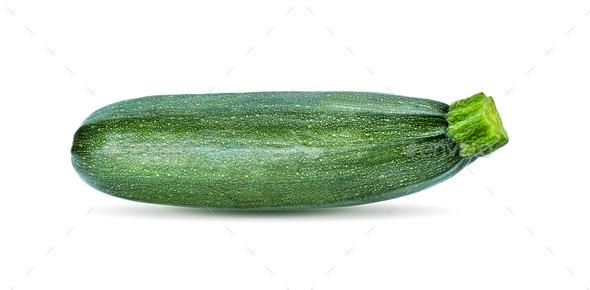 fresh zucchini on white background - Stock Photo - Images