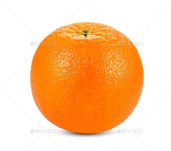 orange isolated on white background - Stock Photo - Images