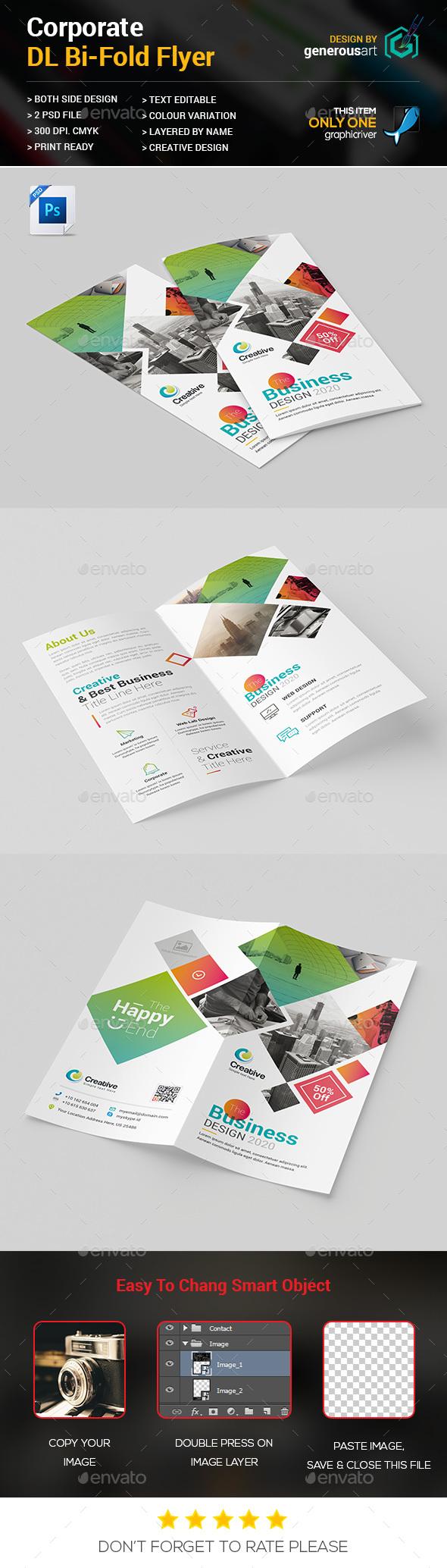 DL Bi-Fold Brochure - Brochures Print Templates
