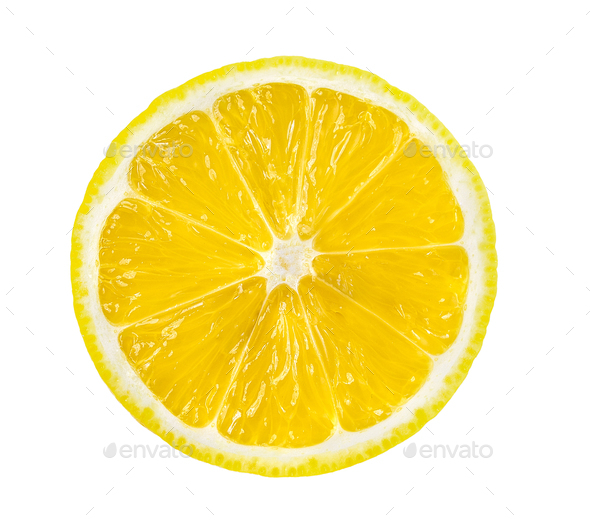 lemon slice, saved with clipping path - Stock Photo - Images