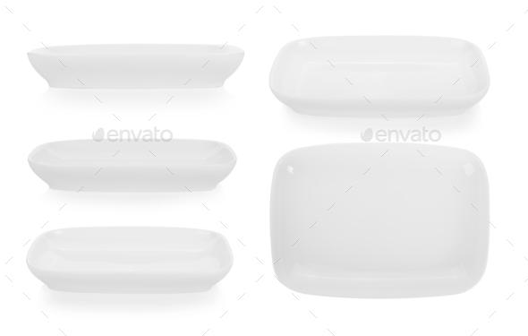ceramic bowl isolated on white background - Stock Photo - Images