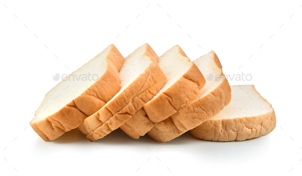 sliced bread isolated on white background - Stock Photo - Images