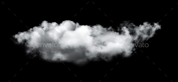 clouds on black background - Stock Photo - Images