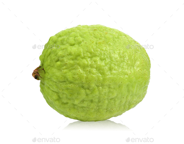guava isolated on white background - Stock Photo - Images