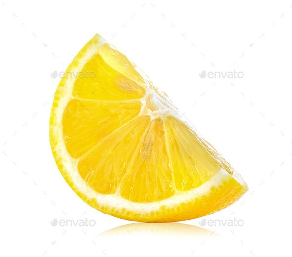 Fresh lemon slices  on white background - Stock Photo - Images