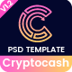 Cryptocash - ICO & Cryptocurrency Landing Page PSD Template - ThemeForest Item for Sale