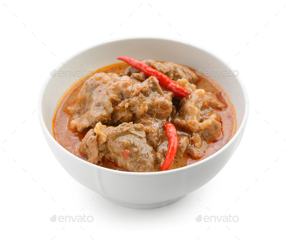 Panaeng curry is a type of Thai curry - Stock Photo - Images