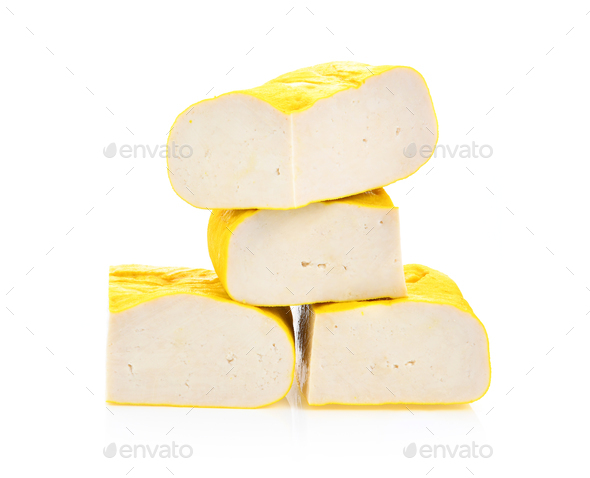 tofu on White background - Stock Photo - Images