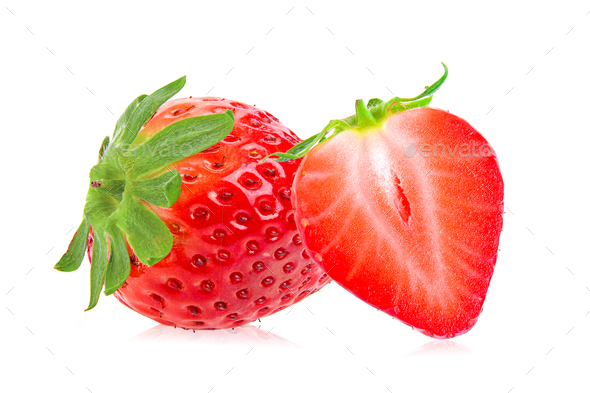 Strawberry isolated on the white background - Stock Photo - Images
