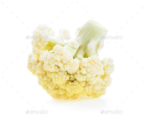 Cauliflower on white background - Stock Photo - Images