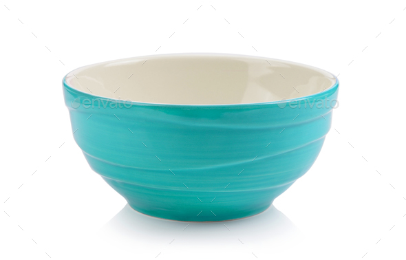 green bowl on white background - Stock Photo - Images