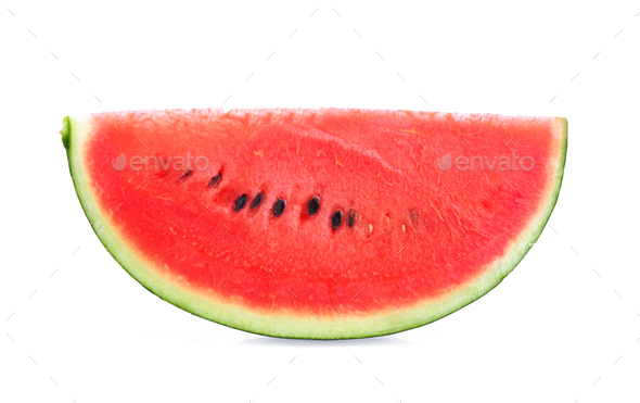 Sliced of watermelon isolated on white background. - Stock Photo - Images