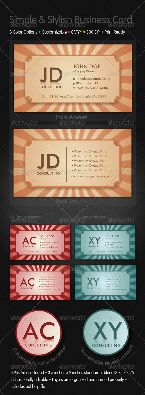 Simple and Stylish Business Cards - Business Cards Print Templates