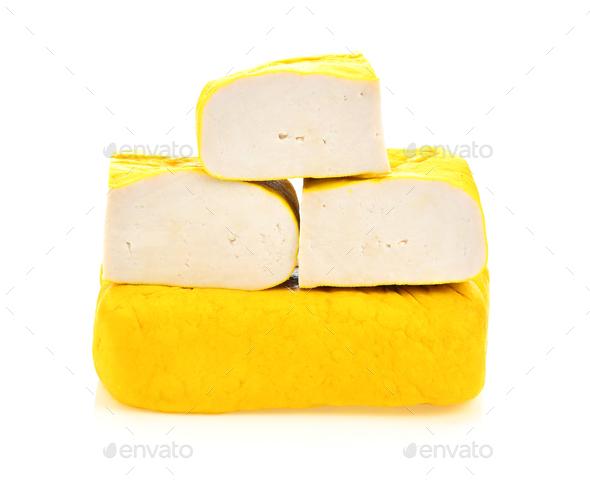 tofu on White background - Stock Photo - Images