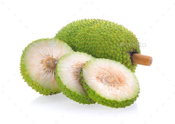 breadfruit isolated on white background - Stock Photo - Images