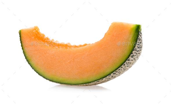 cantaloupe melon isolated on white background - Stock Photo - Images