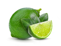 fresh lime with leaf on white background - PhotoDune Item for Sale