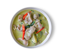 traditional thai green curry on white background - PhotoDune Item for Sale