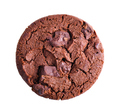 dark chocolate soft cookies isolated on white background - PhotoDune Item for Sale