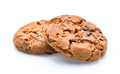 Chocolate chip cookie on white background - PhotoDune Item for Sale