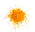Turmeric (Curcuma) powder pile isolated on white background, top - PhotoDune Item for Sale