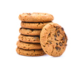 chocolate chips cookies on white background - PhotoDune Item for Sale