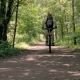 A Man is Training in the Park Riding his Bicycle - VideoHive Item for Sale