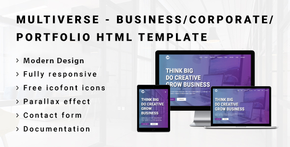 MULTIVERSE - Multipurpose Business/Corporate/Portfolio HTML Template - Corporate Site Templates