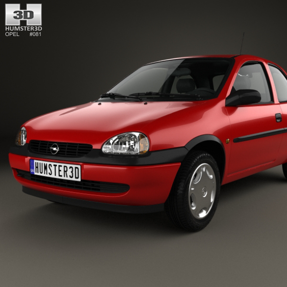 opel corsa b 3 door hatchback 1998 by humster3d 3docean. Black Bedroom Furniture Sets. Home Design Ideas