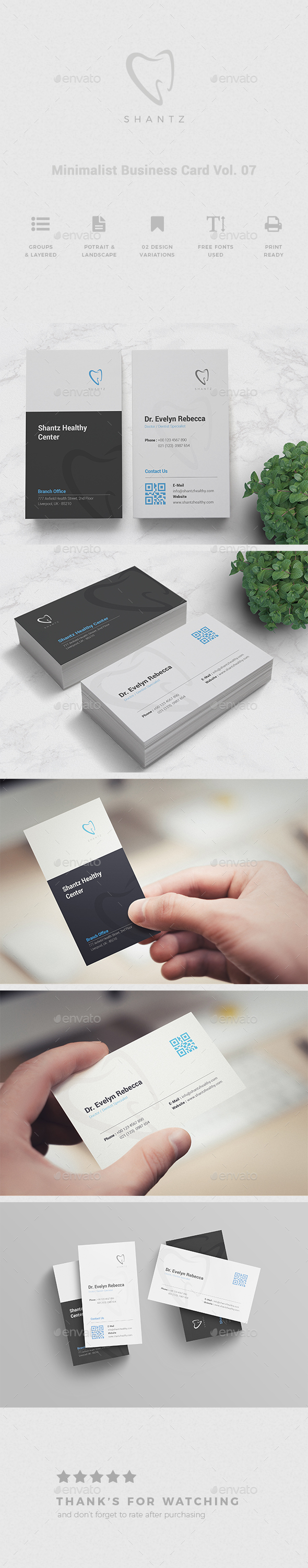 Minimalist Business Card Vol. 07 - Business Cards Print Templates