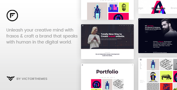 Image of Fraxos - Creative Portfolio WordPress Theme
