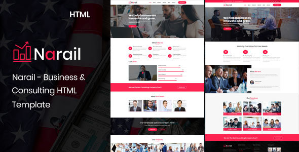 Narail - Business Consulting and Professional Services HTML Template - Business Corporate