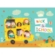 Children on the Way To School - GraphicRiver Item for Sale