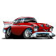 Classic American Hot Rod Cartoon