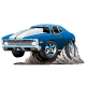 Classic American Muscle Car Cartoon - GraphicRiver Item for Sale