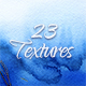 23 Different Blue Watercolor Textures - GraphicRiver Item for Sale