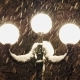 Beautiful Strong Snowfall in the Light of a Street Lamp - VideoHive Item for Sale