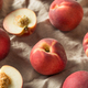 Raw Ripe Organic White Peaches - PhotoDune Item for Sale