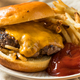 Homemade Oklahoma Fried Onion Cheeseburgers - PhotoDune Item for Sale
