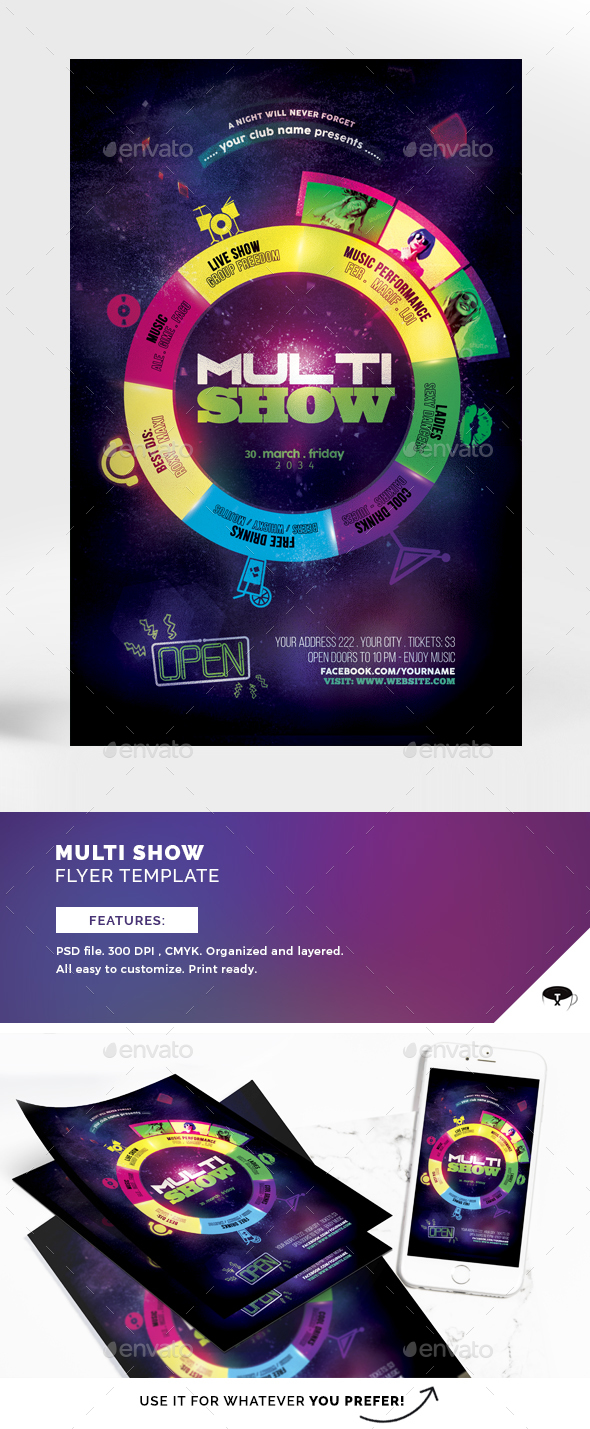 Multi Show Flyer Template - Events Flyers