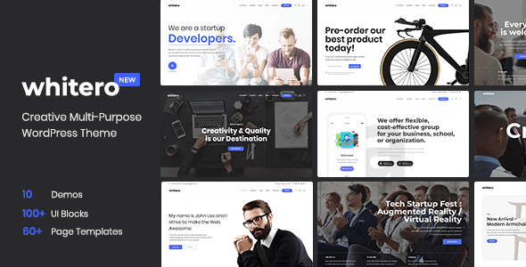 Whitero - Responsive Multi-Purpose WordPress Theme - Creative WordPress