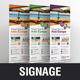 Holiday Travel Rollup Banner Signage Design v1