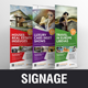 Roll up Banner Signage Design v1 - GraphicRiver Item for Sale