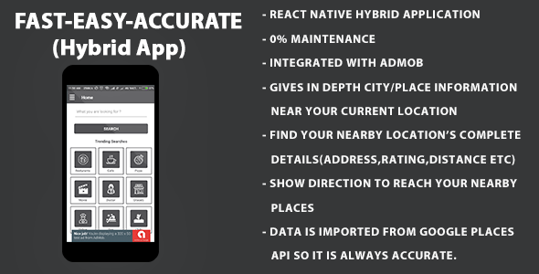 Around Me | Location Finder | Hybrid Application On React Native With Admob            Nulled
