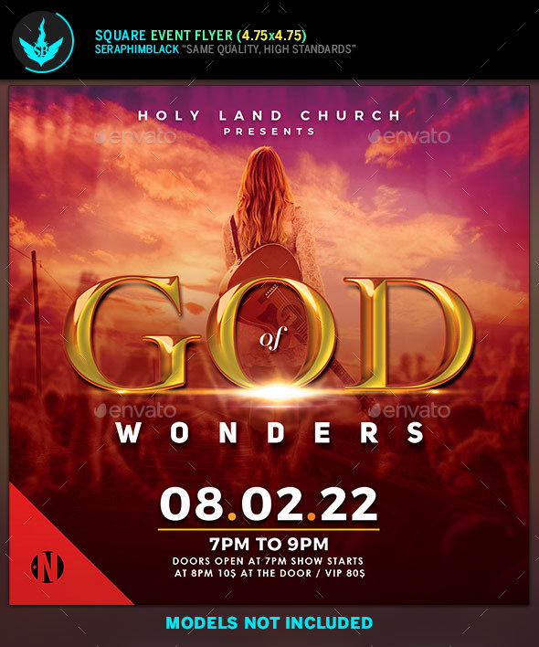 God of Wonders Gospel Concert Fyer Template - Church Flyers