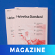 Helvetica Style Magazine - GraphicRiver Item for Sale