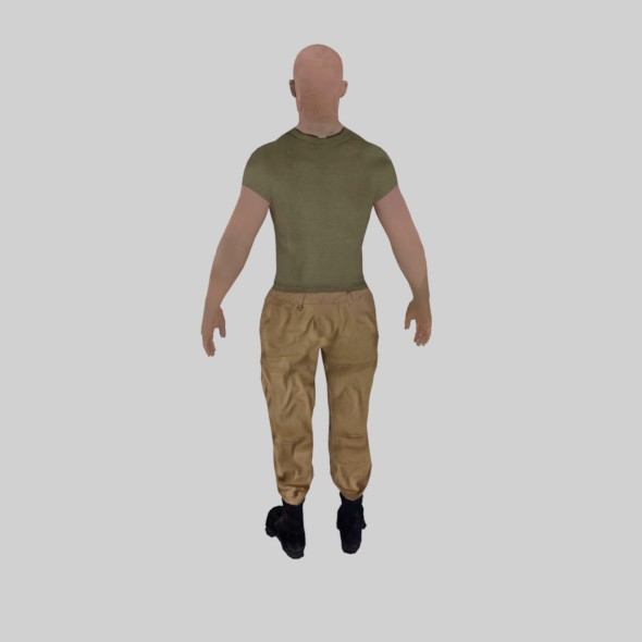 Male soldier base character