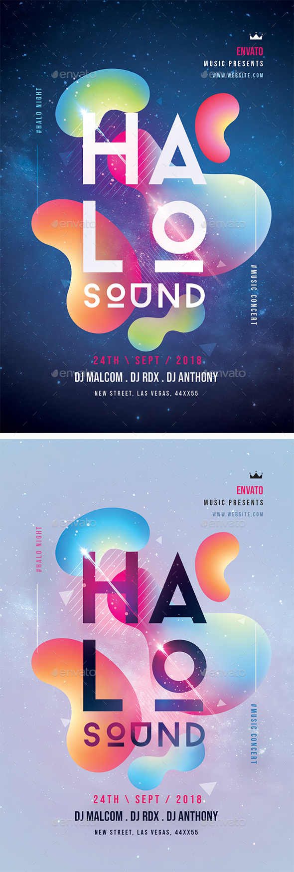 Halo Sound Concert Flyer - Clubs & Parties Events