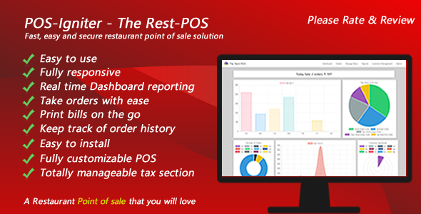 POS-Igniter - The Rest-POS - Fast, easy and secure restaurant point of sale solution            Nulled