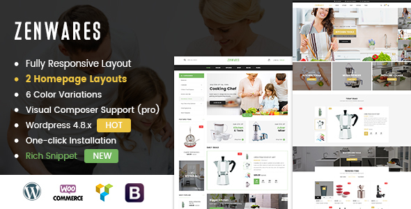 Zenwares - Responsive WooCommerce WordPress Theme - WooCommerce eCommerce